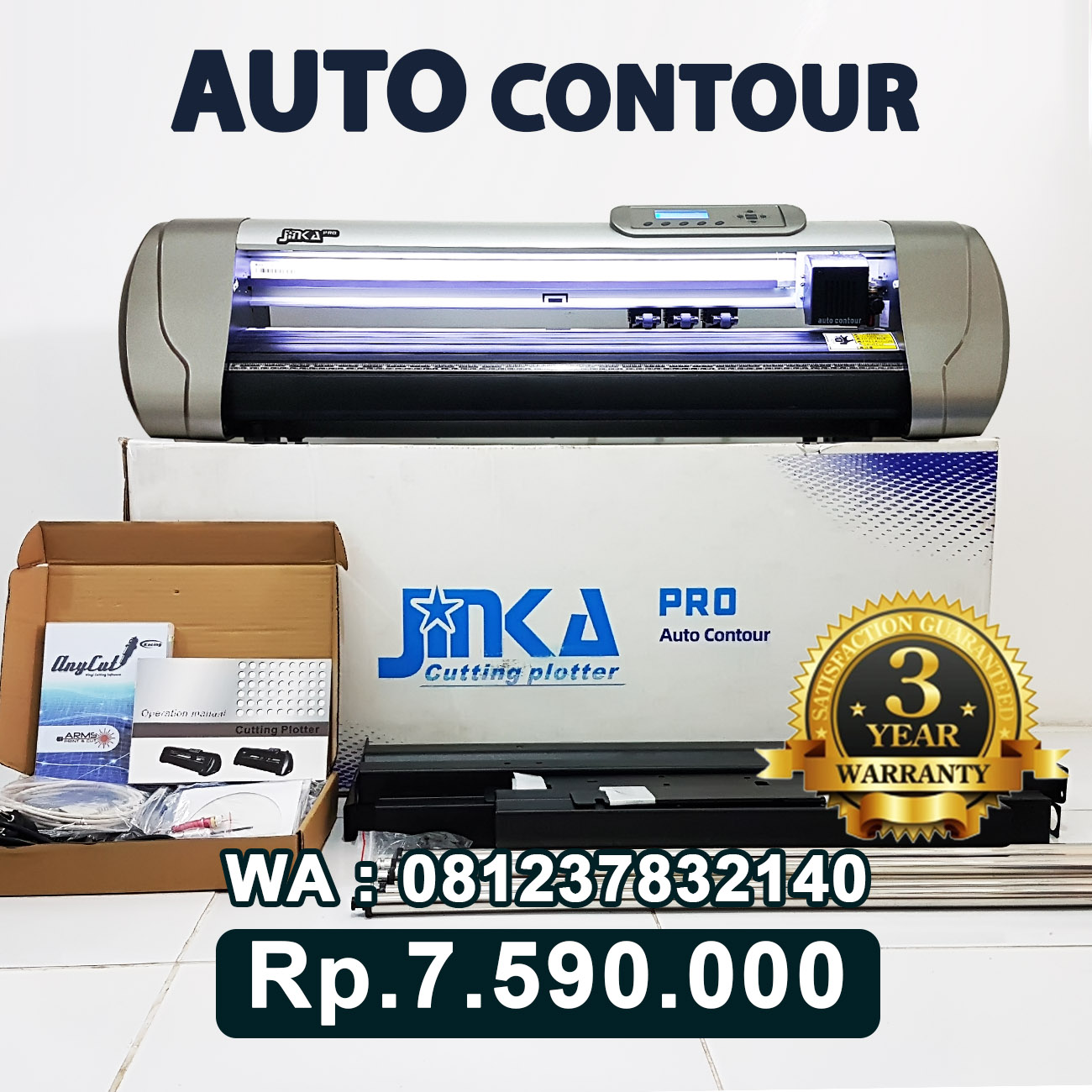 JUAL MESIN CUTTING STICKER JINKA PRO 722 LED AUTO CONTOUR CUT Negara