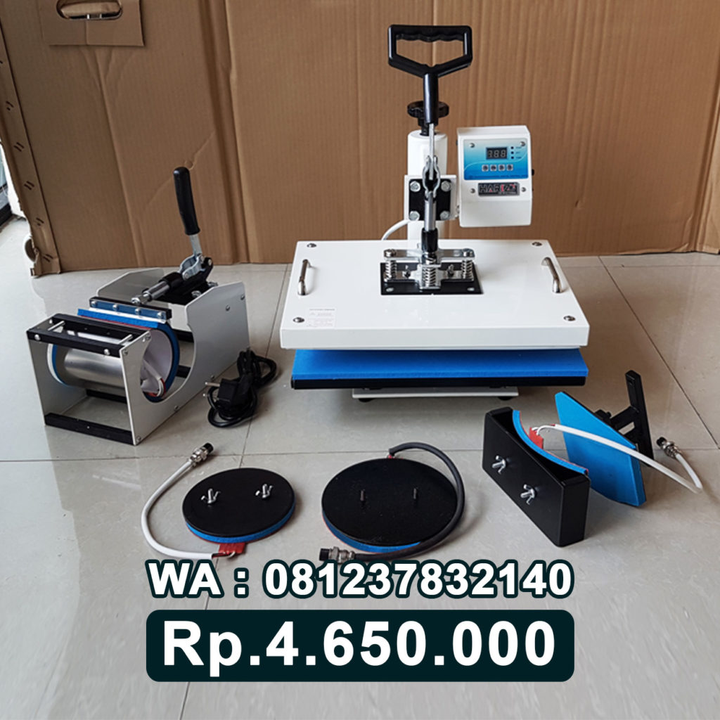 JUAL MESIN PRESS KAOS DIGITAL 5 in 1 PUTIH Bau-Bau