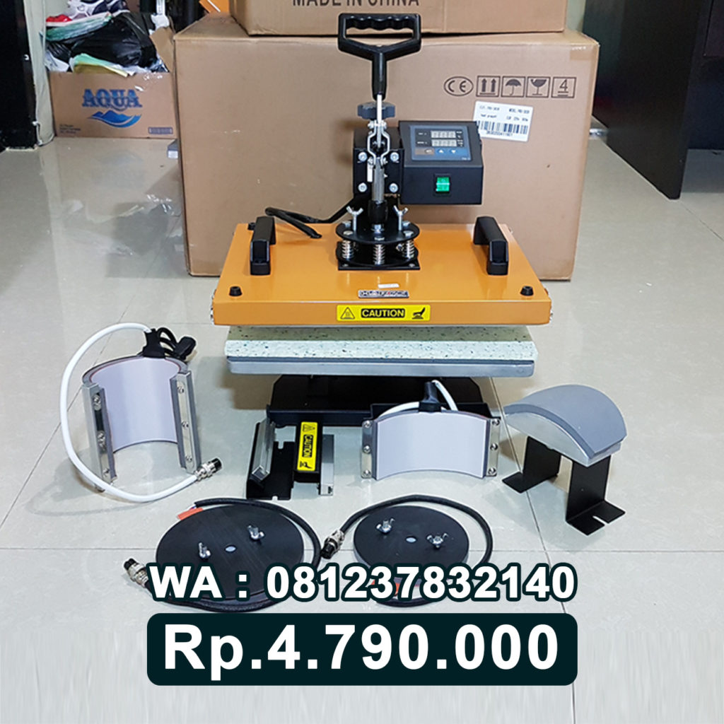 JUAL MESIN PRESS KAOS DIGITAL 6 in 1 KUNING Bau-Bau