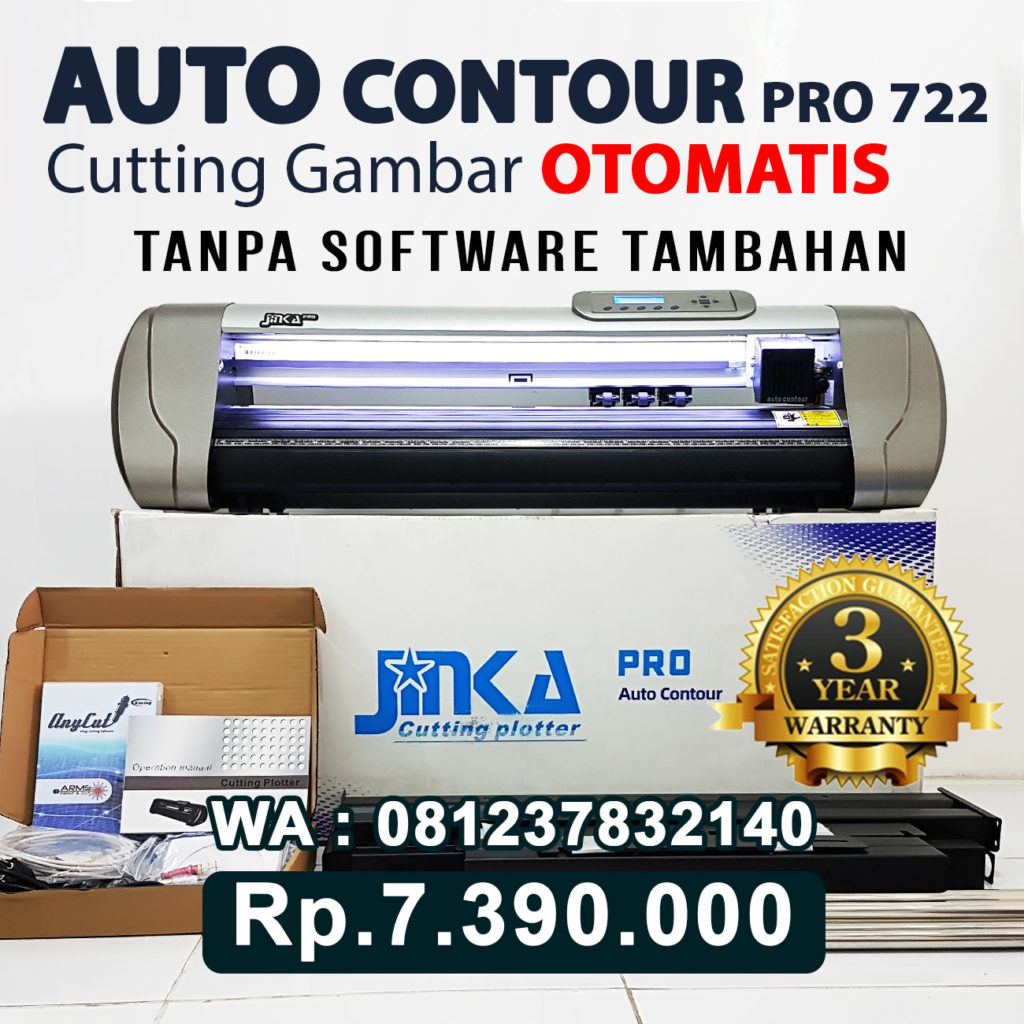 JUAL MESIN CUTTING STICKER JINKA PRO 722 LED AUTO CONTOUR CUT Aceh